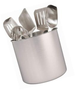 Estilo Stainless Steel Utensil Holder, Jumbo - 7 x 7 inches