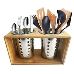 Stainless Steel Utensil Holder Kitchen Cooking Utensil Holde