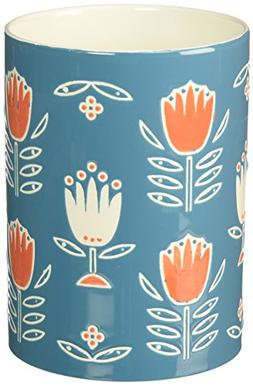 Now Designs Stoneware Utensil Crock, Tulipa Design