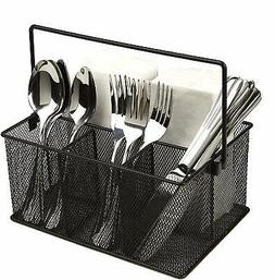 Mind Reader Storage Basket Organizer, Utensil Holder, Forks,