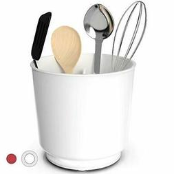 Extra Large and Sturdy Rotating Utensil Holder Caddy with No