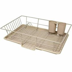 Sweet 3 Piece Dish Drainer Rack Set with Drying Board and Ut