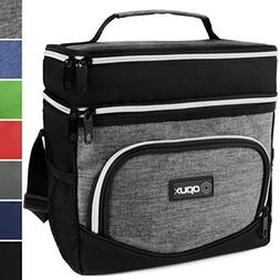 OPUX Premium Thermal Insulated Dual Compartment Lunch Bag fo