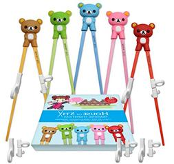 Training chopsticks for kids adults and beginners - 5 Pairs