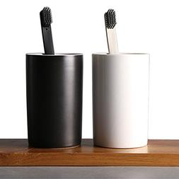 LUANT Two Ceramic Bathroom Tumbler Cup for Mouthwash/Rinsing