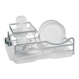 4 Pc. Two Tier Dish Drain Set with Removable Utensil Holder