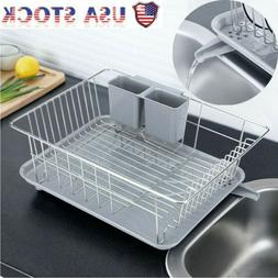 USA Home Collection Rack Set Dish Drainer Drain Board and Ut