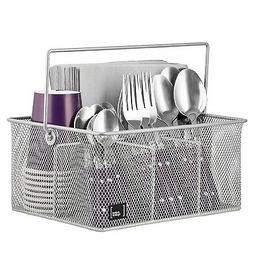 Mindspace Utensil Caddy, Silverware, Napkin Holder and Condi