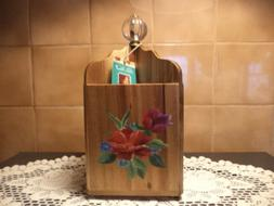 The Pioneer Woman Utensil Holder 4 SECTION WOOD-SPRING BOUQU