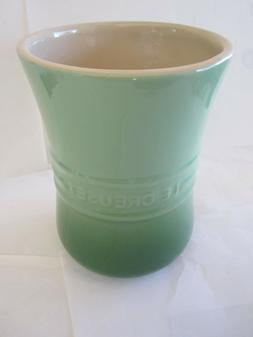 "Le Creuset Utensil Holder Crocks Palm Green 6.5"" Inches Kitc"