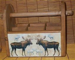 Utensil Holder Moose Country Handcrafted Kitchen Storage Cad