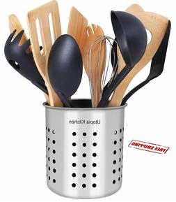 Utensil Holder Stainless Steel Cookware Cutlery Kitchen Stor