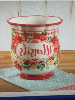 The Pioneer Woman Vintage Floral 6.75-Inch Utensil Holder cr