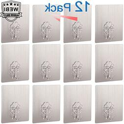 WEBI Strong Adhesive Hooks for Wall & Ceilling, Stick-on Uti