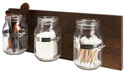 Mkono Wall Mason Jar Organizer Bathroom Storage Accessories