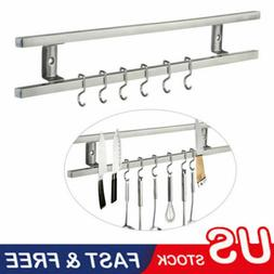Wall Mount Magnetic Knife Storage Holder Rack Strip Utensil