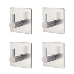 Self Adhesive Wall Hooks 304 Stainless Steel Coat Rack Hat R