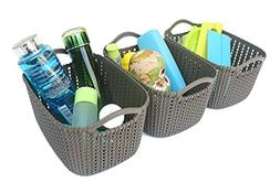 Honla Weaving Rattan Plastic Storage Baskets/Bins Organizer