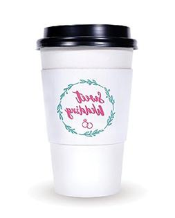 Wedding decorations - disposable coffee cup sleeves. 100 pcs