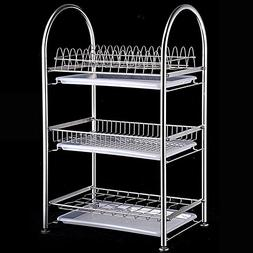 WENZHE Kitchen Storage Rack Corner Tray Shelf Dish Drain Dry