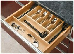 Wood Cabinet Drawer Cutlery Tray Insert Kitchen Silverware U