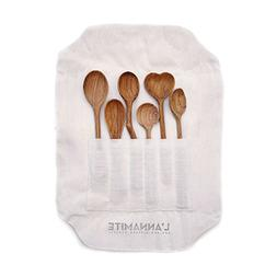 Wood Spoons Set 6 Pieces - Eco-Friendly Tableware Natural -