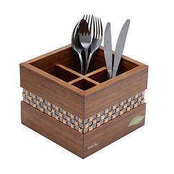 Woodart Wooden Cutlery Holder- Cutlery organizer, Flatware d