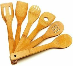 Wooden Cooking Utensil Set Bamboo Kitchen Spatula Spoons Hol