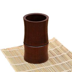 ESUPPORT Wooden Utensil Holder Vintage Bamboo Section Shaped