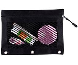 HITOP Zippered Binder Transparent High Capacity Pencil Pouch
